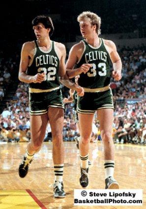 Bird y McHale en las finales del 85 en Los Angeles