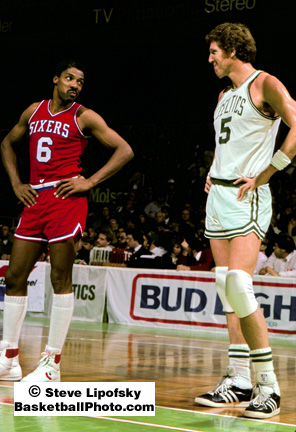 Julius Erving y Bill Walton comparten un momento