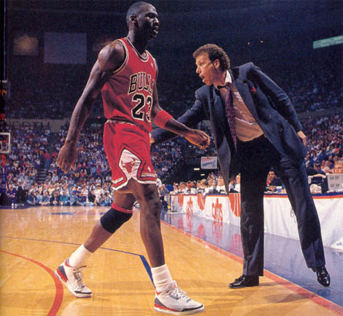 Michael Jordan & Doug Collins